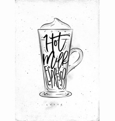 Coffee latte cup vector