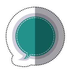 Color sticker circular balloon frame callout vector