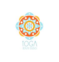 Colorful creative yoga flower logo vector