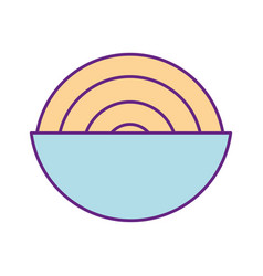 dish with delicious spaghetti isolated icon vector image vector image