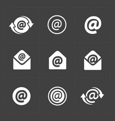 E-mail icons on dark background vector