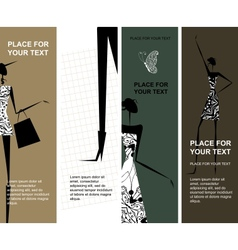 Fashion girls banners with place for your text vector image vector image