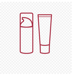 Foundation face cream thin line icon vector