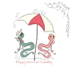 Hand drawn romantic universal trendy card vector image vector image
