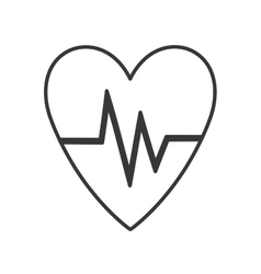heart with cardio pulse vector image vector image