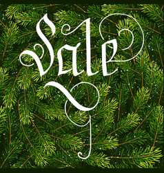 Holiday gift card with hand lettering sale on vector