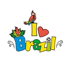 I love brazil illutration vector