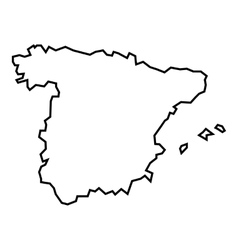 Map of spain icon outline style vector
