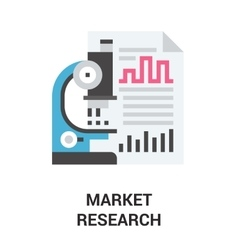 market research icon concept vector image