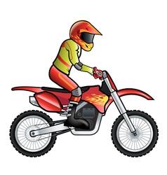 Motorcross rider vector image