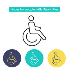 places for people with disabilities vector image vector image