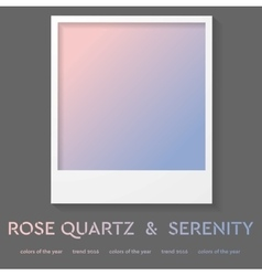 Polaroid frame with trend color 2016 rose quartz vector