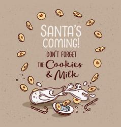 Poster santa is coming vector