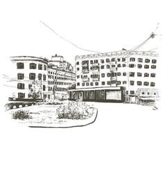 russia voronezh hand drawn sketch city vector image