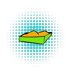 Sandbox on a playground icon comics style vector