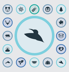 Set of simple nature icons vector