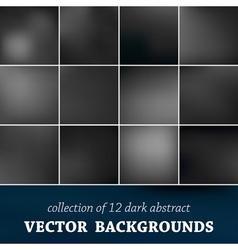 Set of twelve blurred background vector image vector image