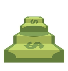 Steps from dollar track of money staircase in form vector