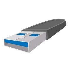 USB flash drive cartoon icon vector image