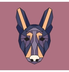 Violet and orange low poly dog vector image