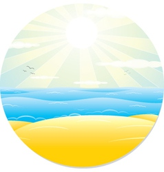 Summer tropical landscape vector