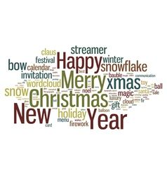 Christmas tag cloud vector