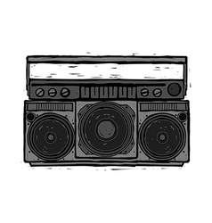 A cassette player vector