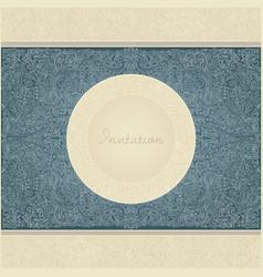 paisley invitation card vector image