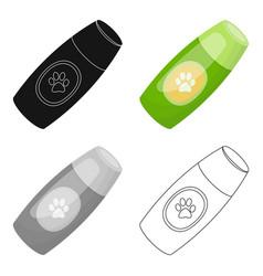 shampoo for animalspet shop single icon in black vector image