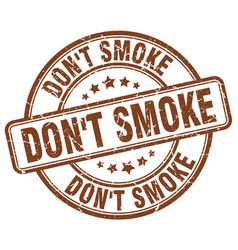 Dont smoke stamp vector