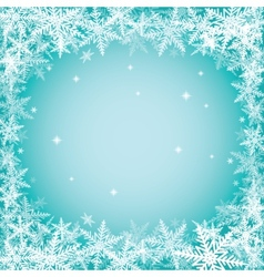 Christmas snowflakes on turquoise background vector