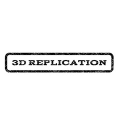 3d replication watermark stamp vector