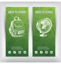 Hand drawn  back to school vector