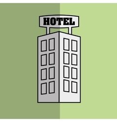 Hotel building design vector