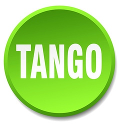 Tango green round flat isolated push button vector