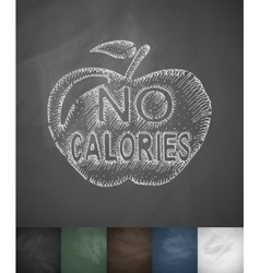 No calories icon hand drawn vector