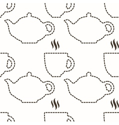 Abstract kitchen seamless pattern vector