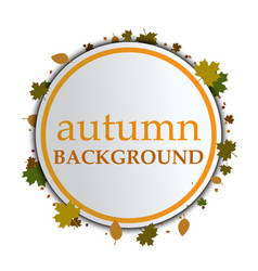 autumn background on a white background vector image