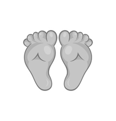 Babys legs icon black monochrome style vector image vector image