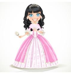 Brunette princess vector image