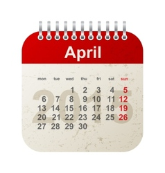 calendar 2015 - april vector image vector image