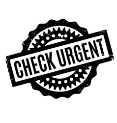 Check urgent rubber stamp vector