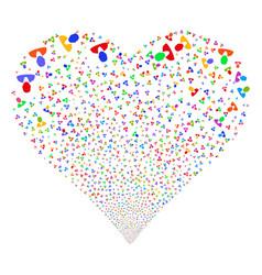 Client fireworks heart vector