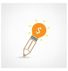Creative light bulb Idea and pencil concept vector image vector image