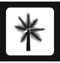 Date palm tree icon simple style vector image vector image