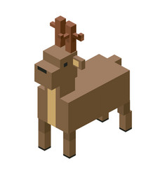 Deer modular animal plastic lego toy blocks and vector