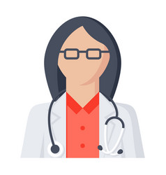 Doctor woman icon vector