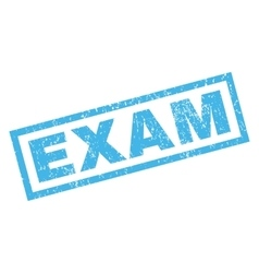 Exam rubber stamp vector