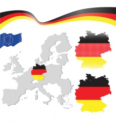 germany and EU map vector image vector image