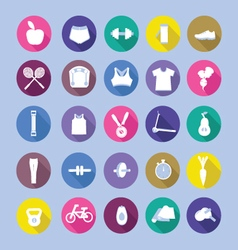 Healthy lifestyle icon set healthy lifestyle sport vector